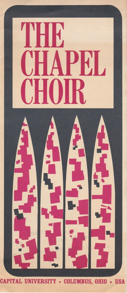 Programmheft THE CHAPEL CHOIR Capital University Columbus Ohio USA 1967