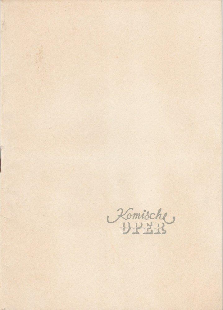 Programmheft BALLETTABEND Klassische Suite Polowetzer Tänze Scheherazade 1953