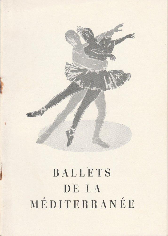 Programmheft Gastspiel Les Ballets de la Mediterranee Berlin + DDR 1956