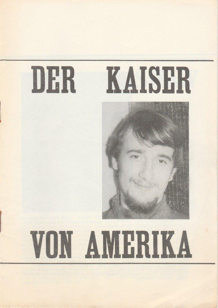 Programmheft Shaw: Der Kaiser von Amerika Gymnasiums Oberalster Hamburg 1967