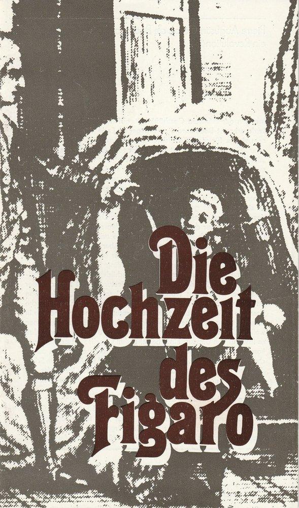 Programmheft Mozart Die Hochzeit des Figaro Theater Karl-Marx-Stadt 1986