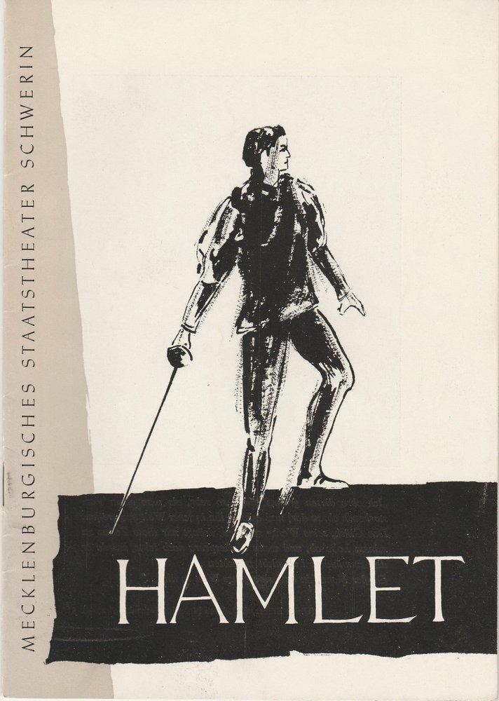 Programmheft William Shakespeare: HAMLET Staatstheater Schwerin 1957