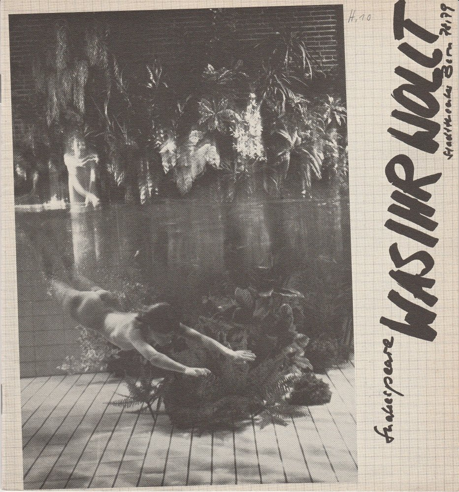 Programmheft William Shakespeare WAS IHR WOLLT Stadttheater Bern 1979