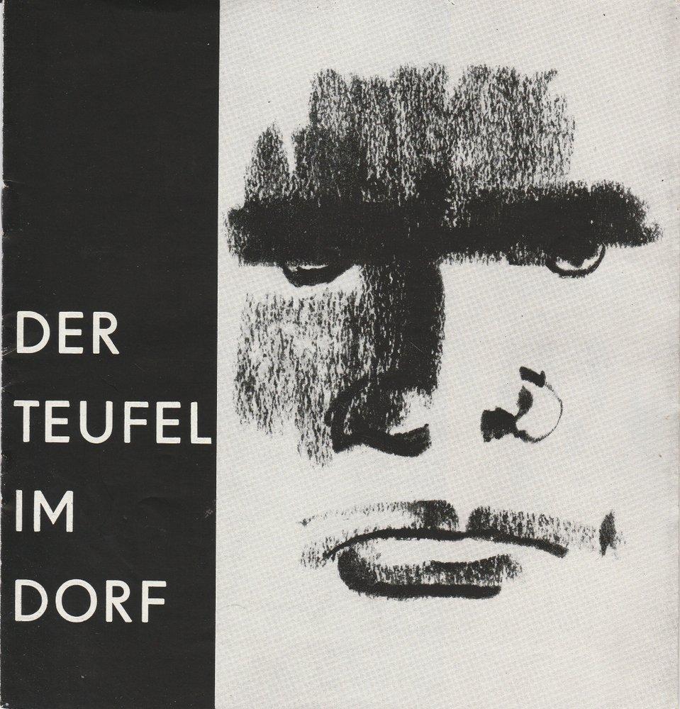 Programmheft DER TEUFEL IM DORF. Ballett von Pia und Pino Mlakar Schwerin 1966