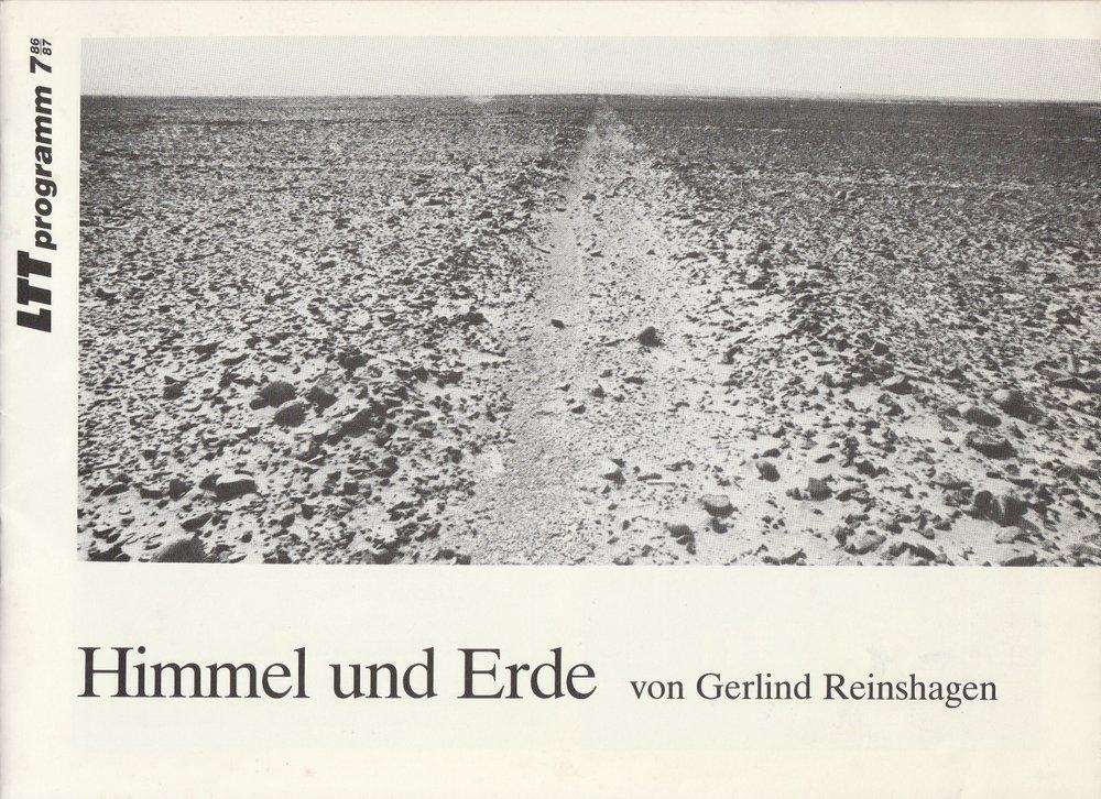 Programmheft HIMMEL UND ERDE von Gerlind Reinshagen LTT Tübingen 1987