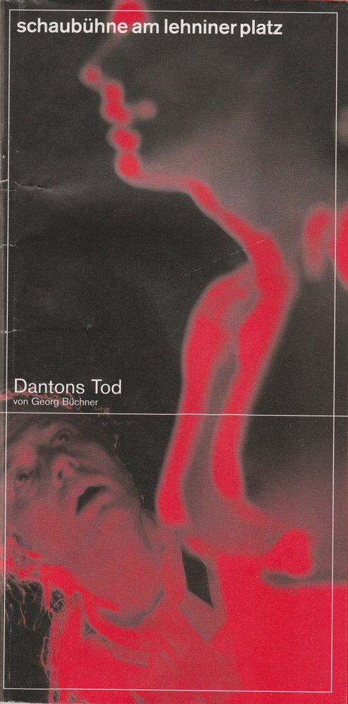 Programmheft DANTONS TOD von Georg Büchner Schaubühne am Lehniner Platz 2001