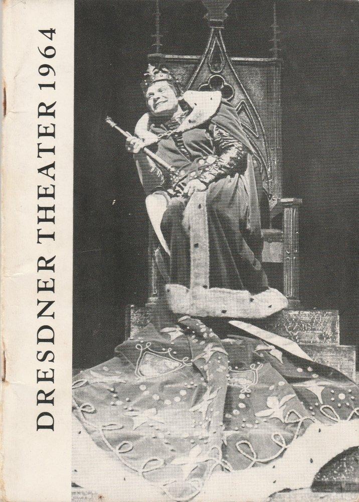 Theatervorschau Nr. 8 für das Jahr 1964 Staatstheater Dresden