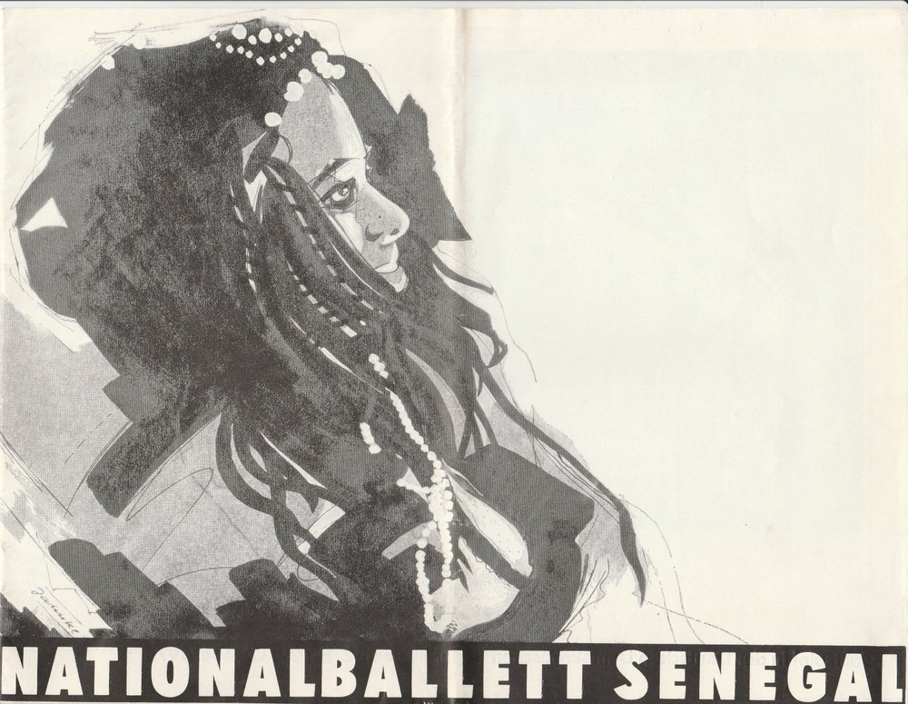 Programmheft Nationalballett Senegal. Gastspiel in der DDR 1975