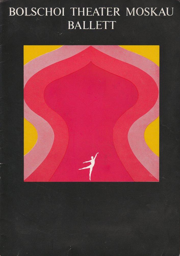 Programmheft Bolschoi Theater der UDSSR XIII. Berliner Festtage 1969