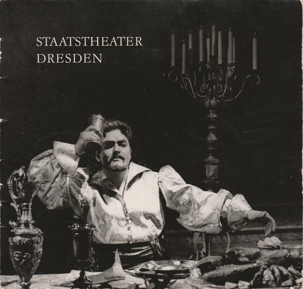 Programmheft Theater-Vorschau 1. Halbjahr 1965 Staatstheater Dresden