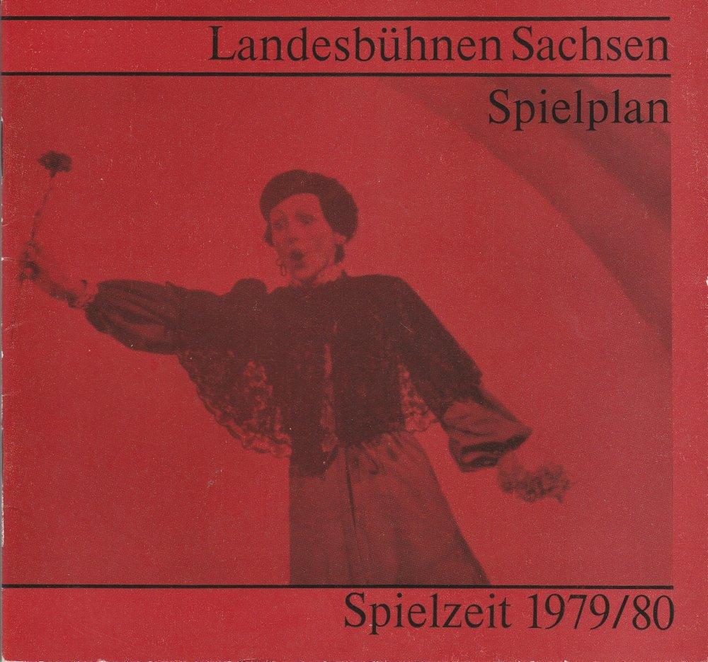 Landesbühnen Sachsen Spielplan Spielzeit 1979 / 80