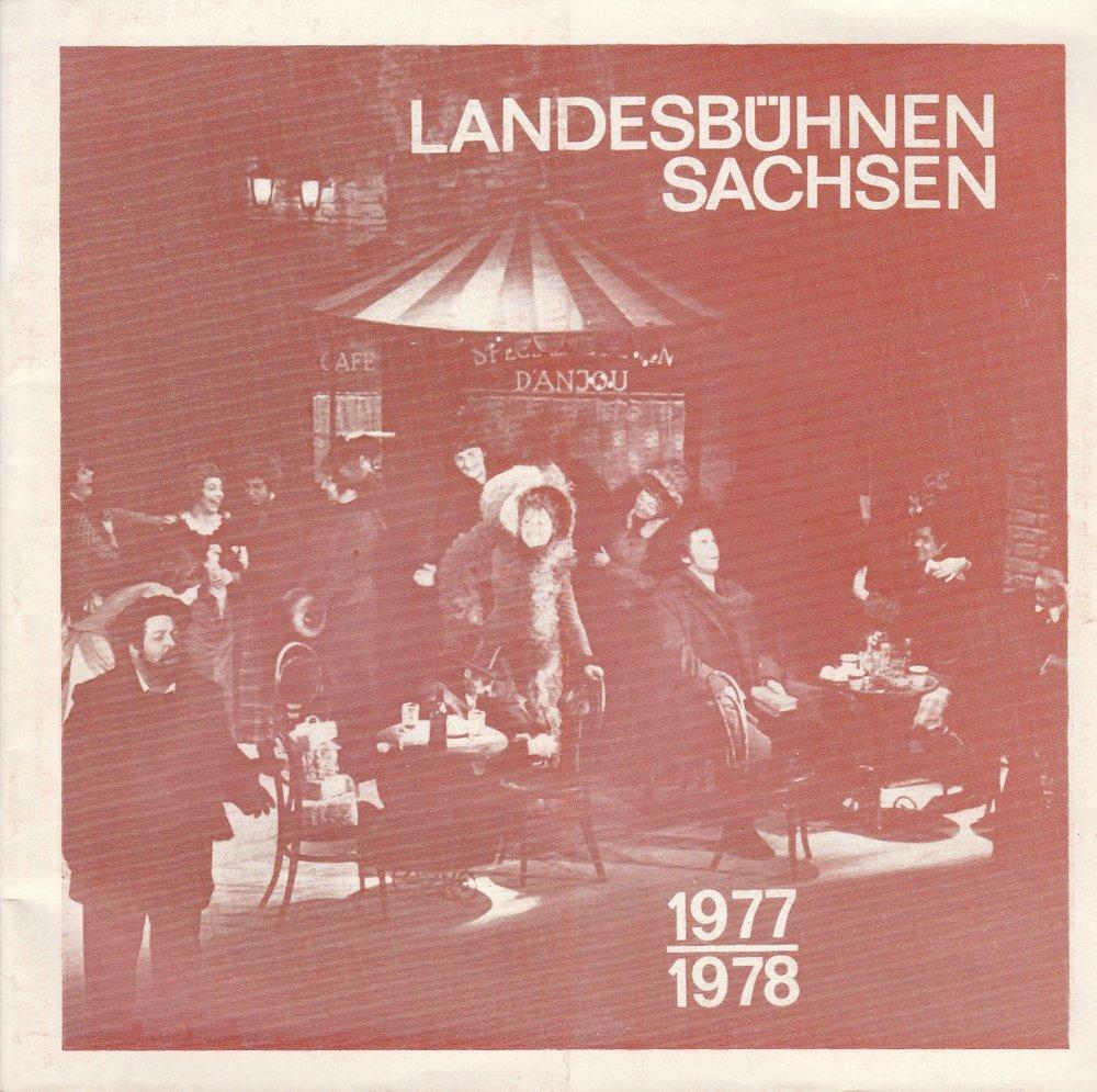 Landesbühnen Sachsen 1977 / 1978 Spielzeitheft