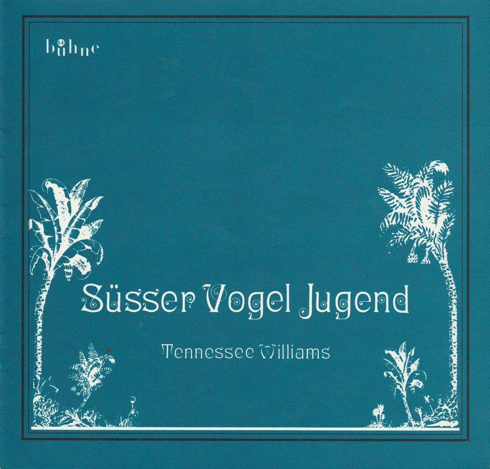 Programmheft Tennessee Williams: Süßer Vogel Jugend Bühne 64 1975