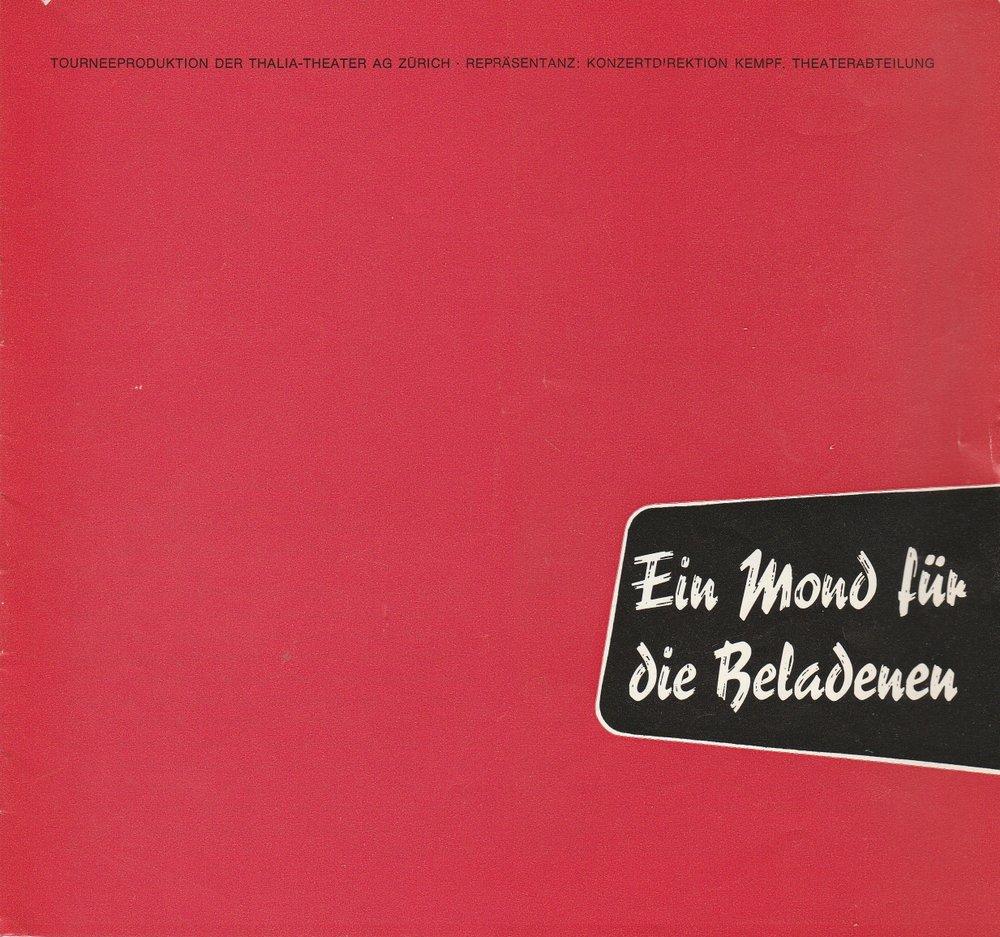 Programmheft Ein Mond für die Beladenen Thalia-Theater AG Zürich 1973