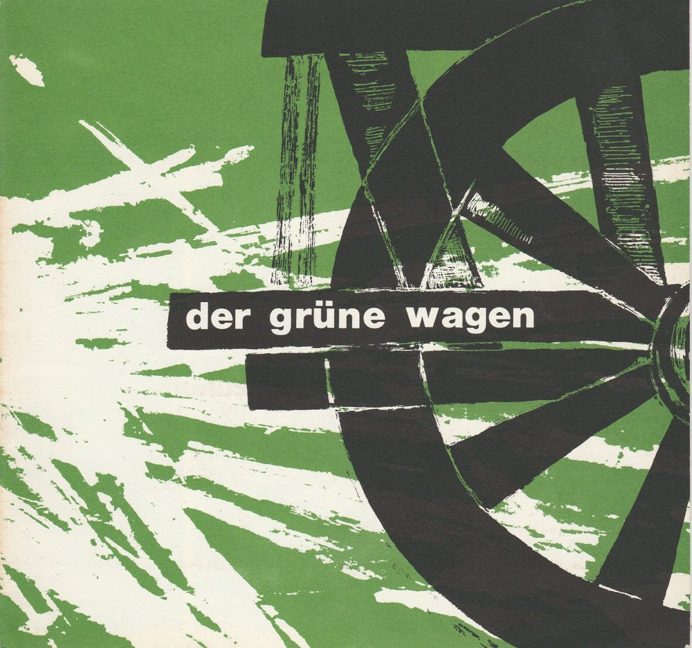 Programmheft de Marivaux: Das Spiel von Liebe und Zufall Der Grüne Wagen 1966