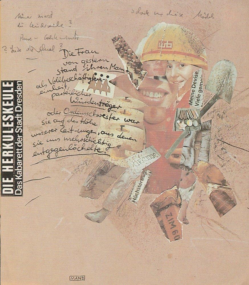 Programmheft RASSE FRAUEN Kabarett DIE HERKULESKEULE Dresden 1990
