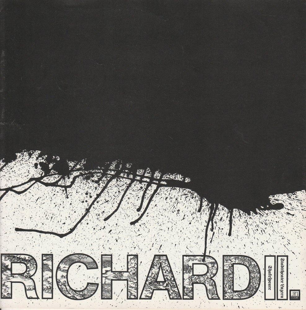 Programmheft RICHARD II. William Shakespeare Stadttheater Luzern 1979