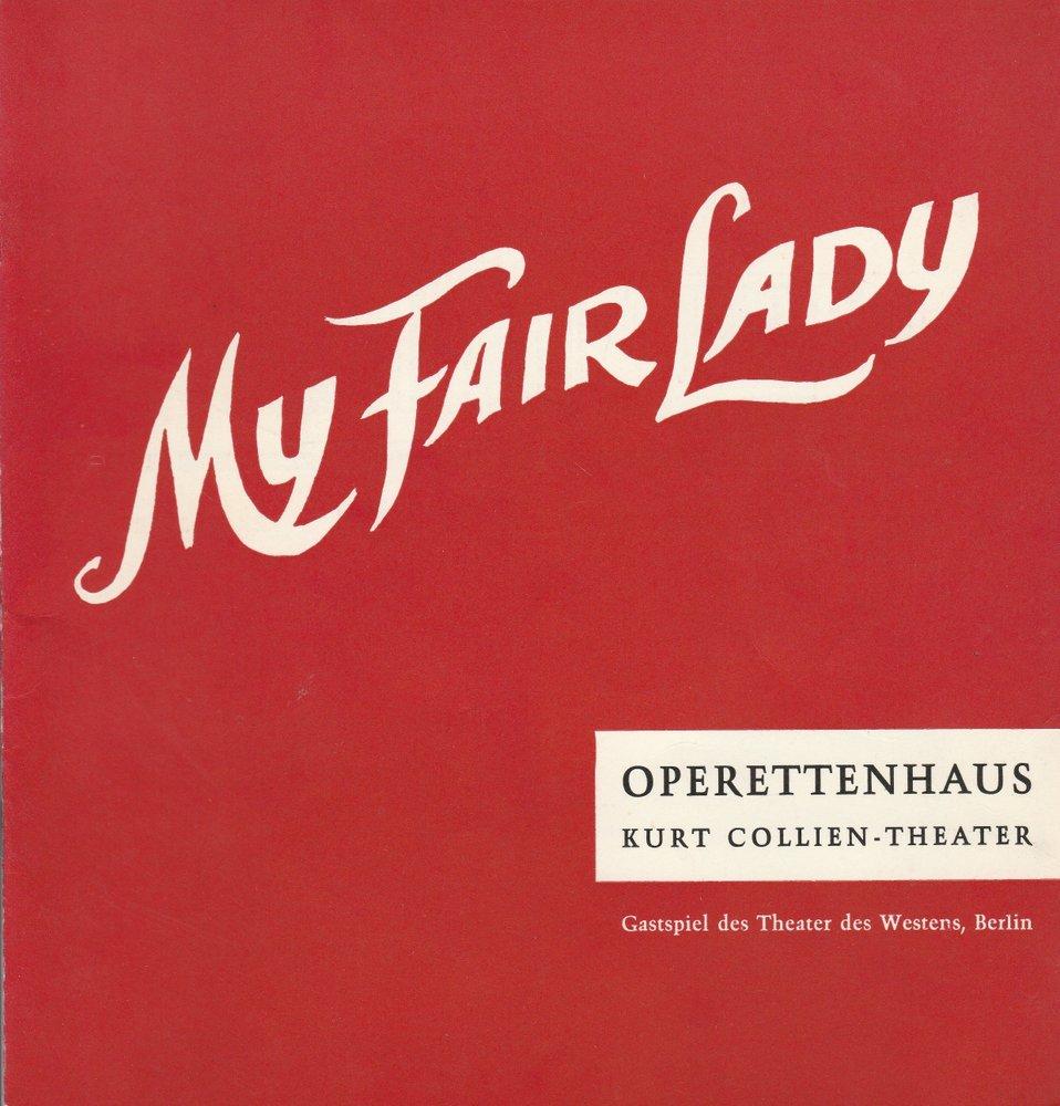 Programmheft MY FAIR LADY Operettenhaus Hamburg 1962