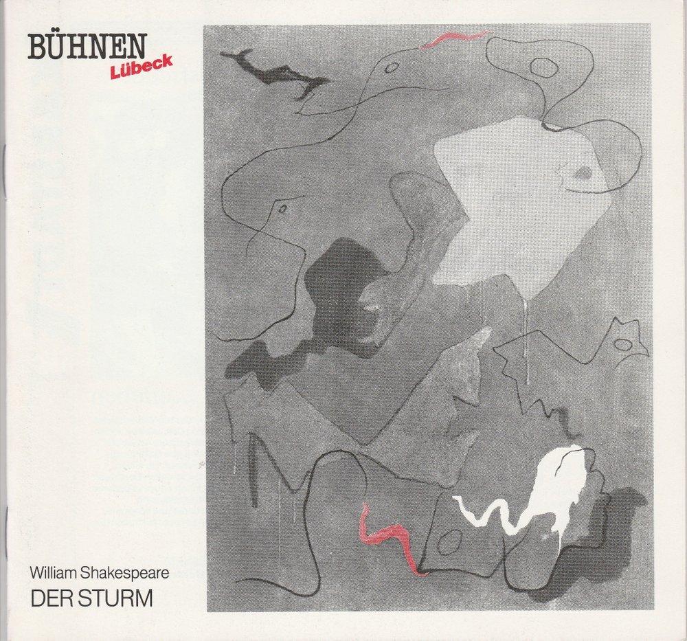 Programmheft William Shakespeare: DER STURM Bühnen Lübeck 1990