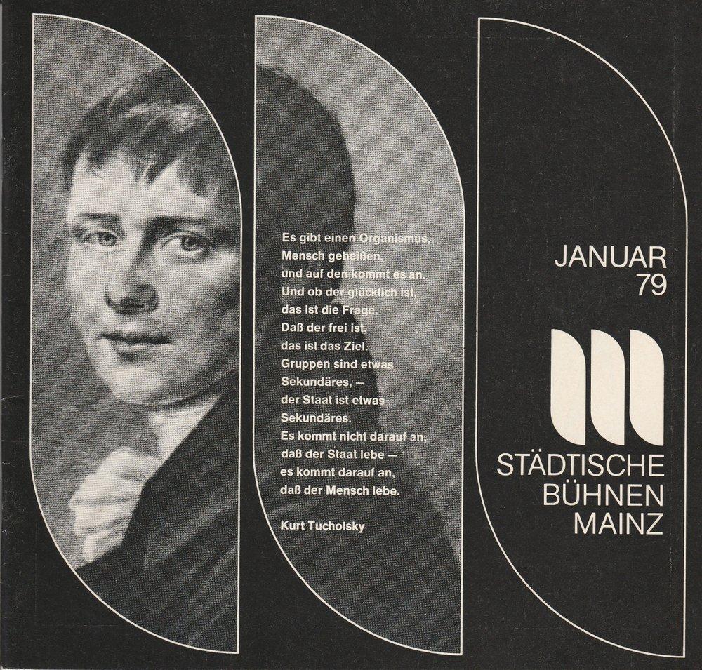 Programmheft Kleist: PRINZ FRIEDRICH VON HOMBURG Bühnen Mainz 1979