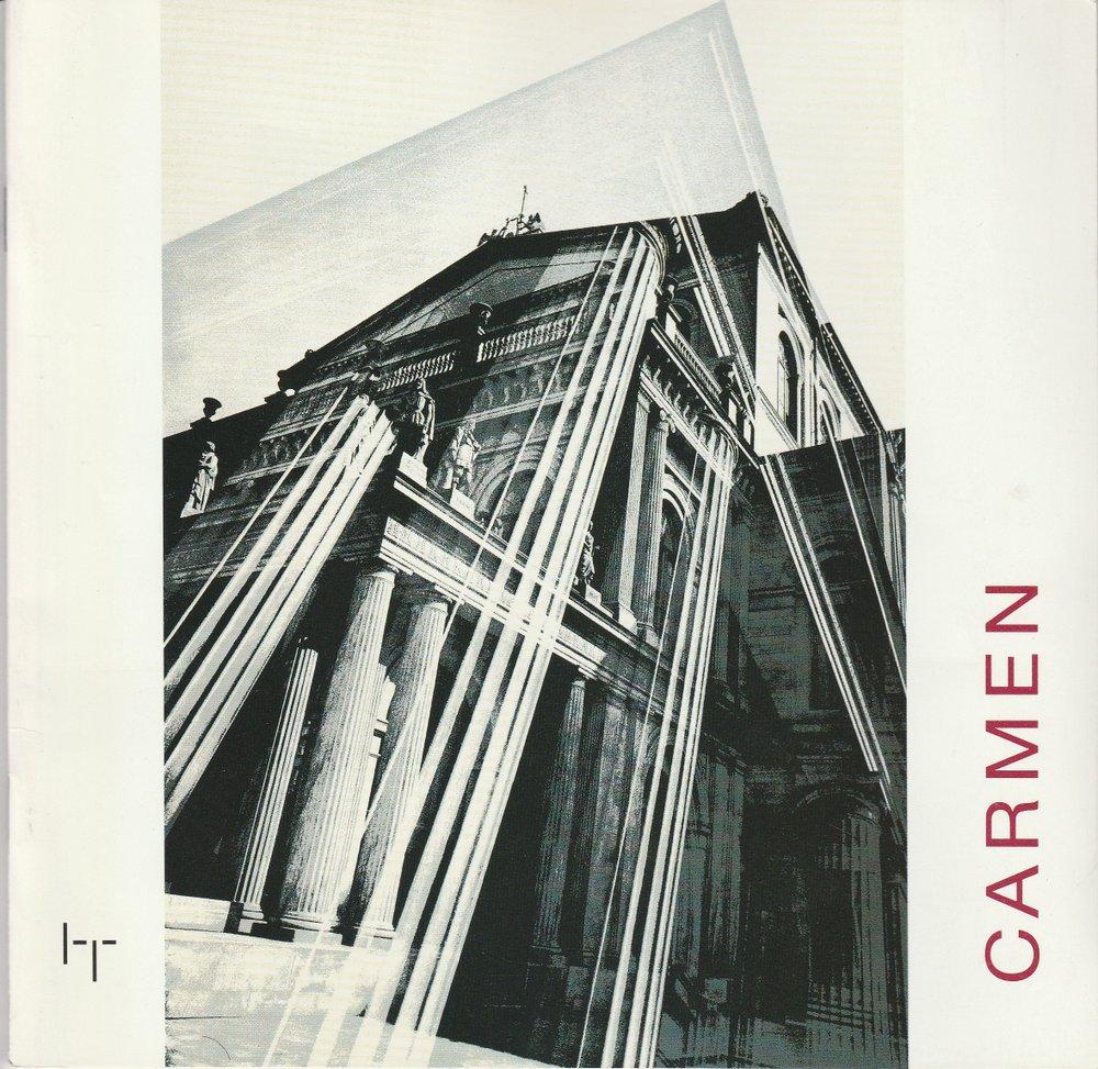 Programmheft Georges Bizet: CARMEN Staatstheater Hannover 1997