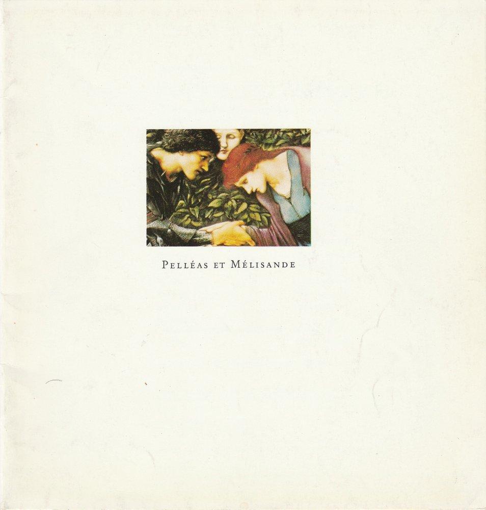 Programmheft Claude Debussy: PELLEAS UND MELISANDE Hamburgische Staatsoper 1979