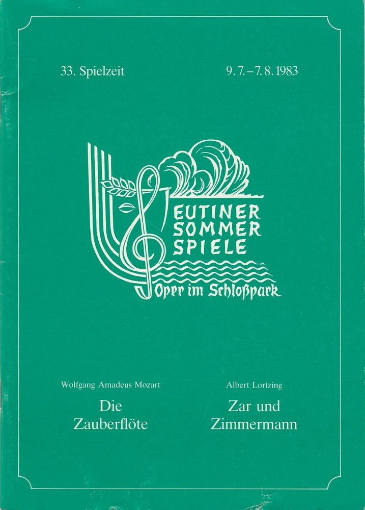 Programmheft DIE ZAUBERFLÖTE / ZAR UND ZIMMERMANN Eutiner Sommerspiele 1983