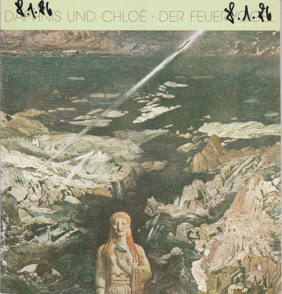Programmheft Daphnis und Chloe / Der Feuervogel Hamburgische Staatsoper 1985