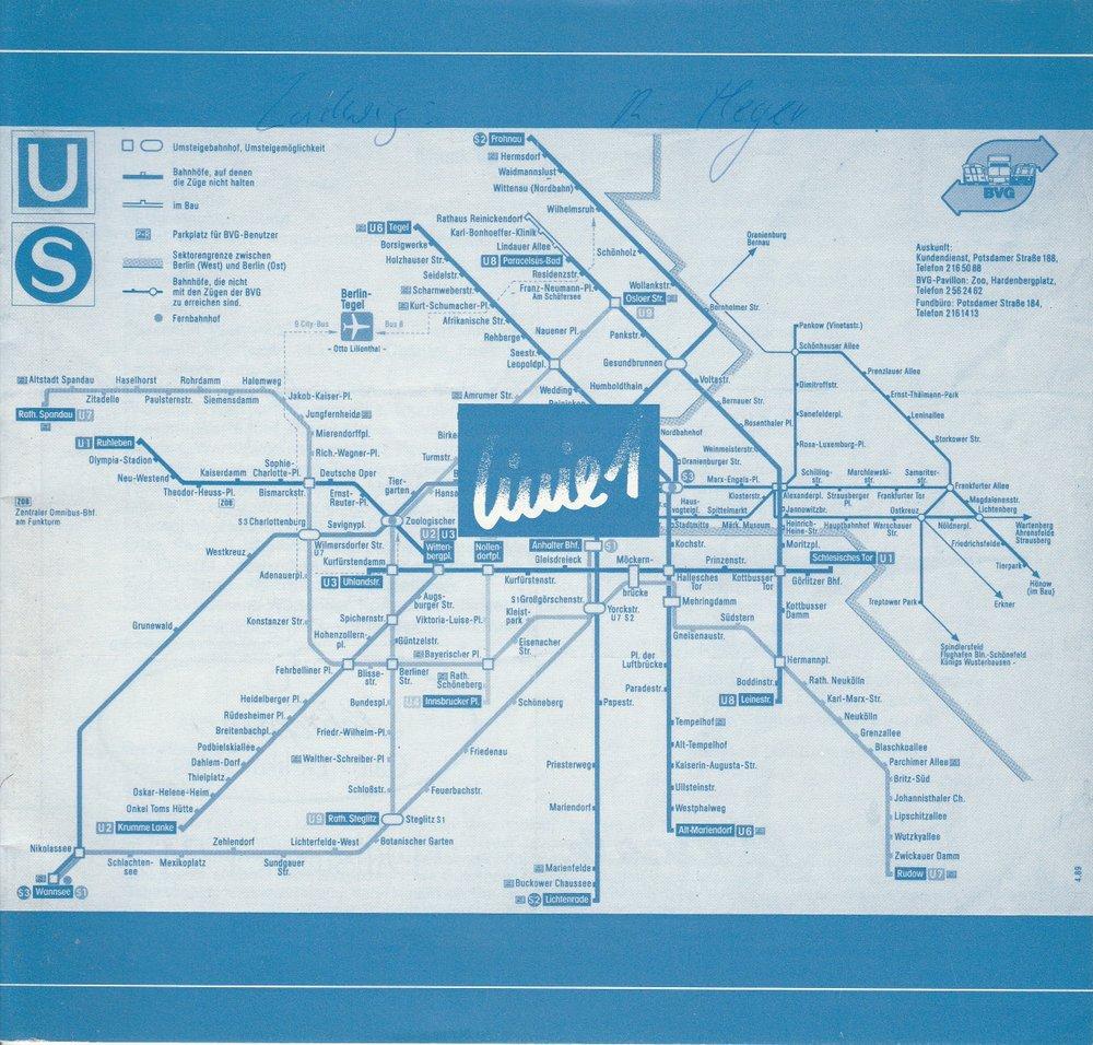 Programmheft Linie 1. Musikalische Revue von Volker Ludwig Pforzheim 1989
