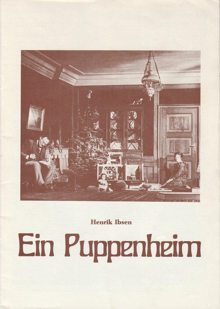Programmheft Henrik Ibsen EIN PUPPENHEIM Konzertdirektion Landgraf 1978