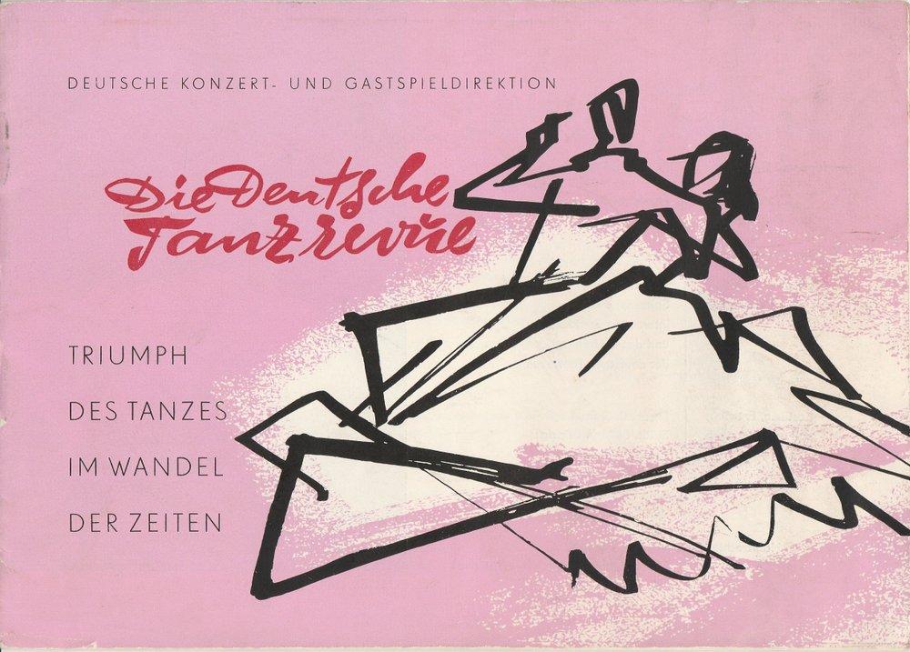 Programmheft Die Deutsche Tanzrevue. Tausend Jahre Tanz 1959