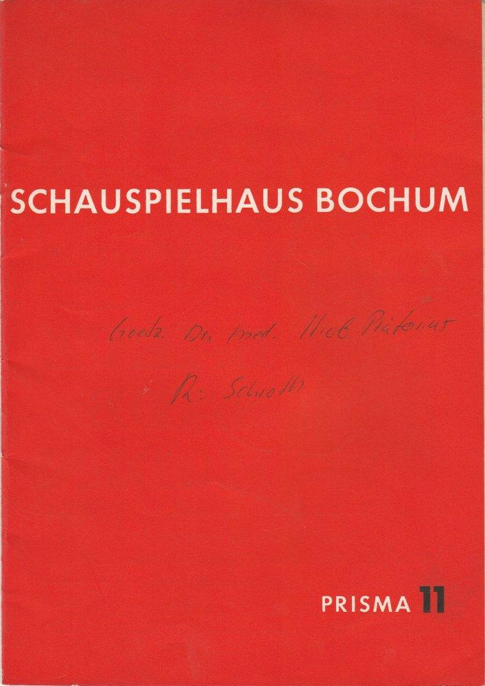 Programmheft Curt Goetz: Dr. med. Hiob Prätorius Schauspielhaus Bochum 1962