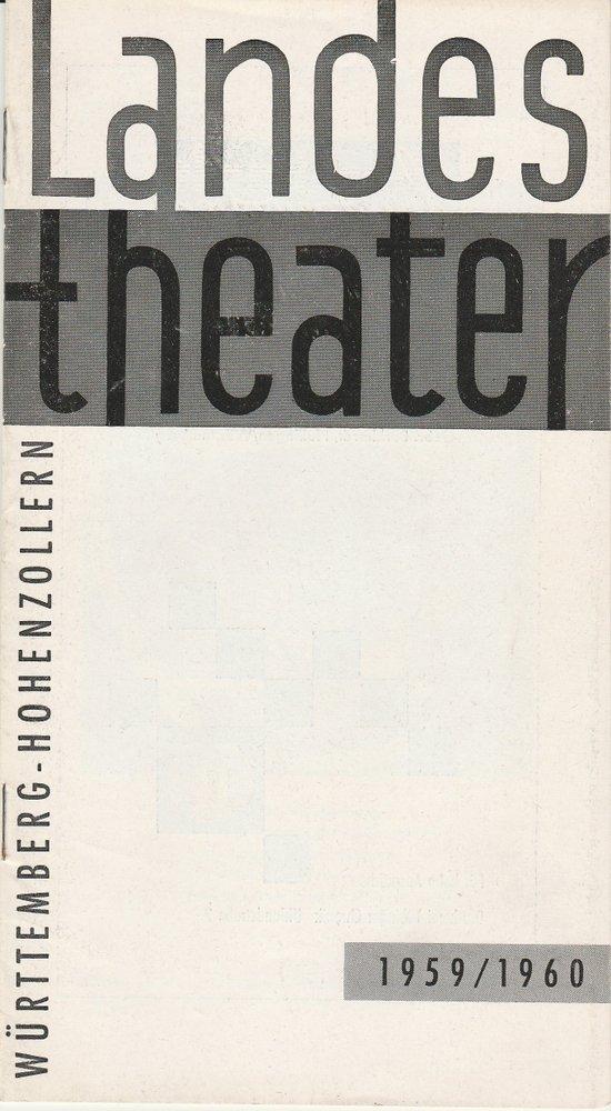 Programmheft WAS IHR WOLLT Landestheater Württemberg-Hohenzollern 1959