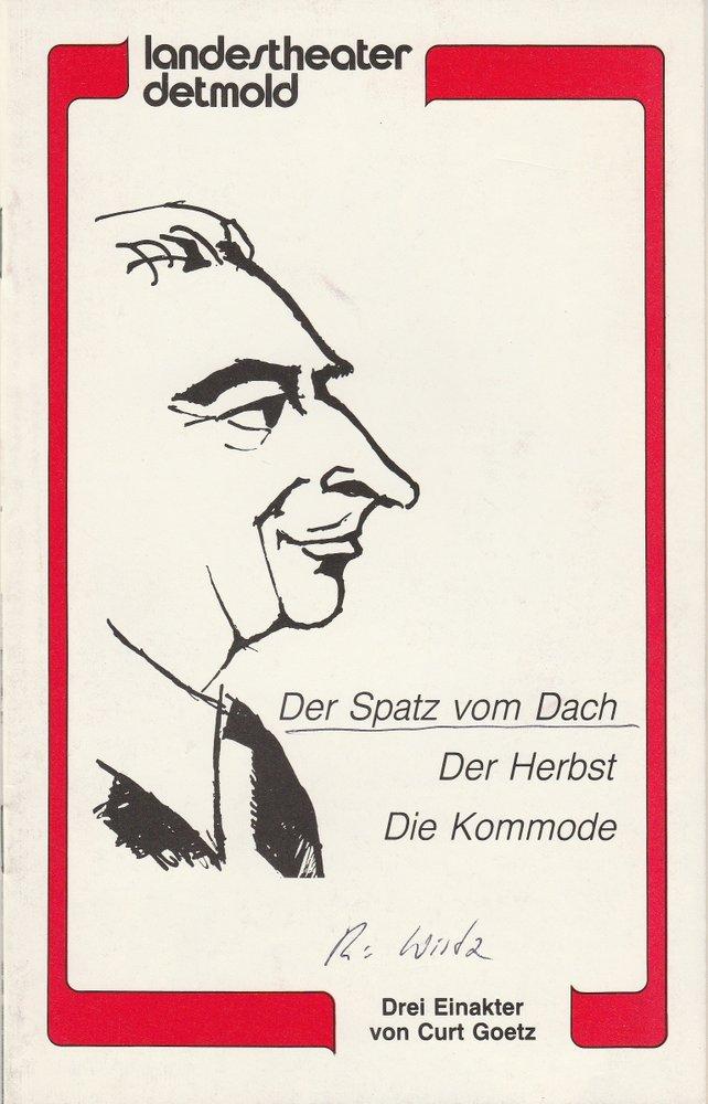 Programmheft Curt Goetz: Der Spatz vom Dach / Der Herbst / Die Kommode 1982