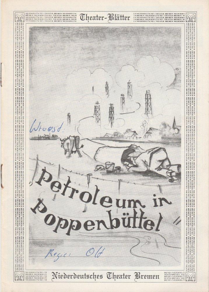 Programmheft Wilfried Wroost: PETROLEUM IN POPPENBÜTTEL Bremen 1983