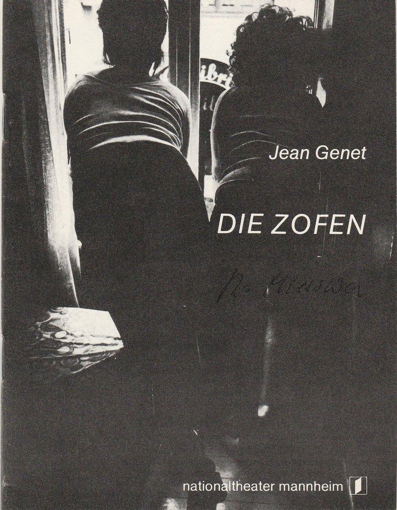 Programmheft Jean Genet: DIE ZOFEN Nationaltheater Mannheim 1980