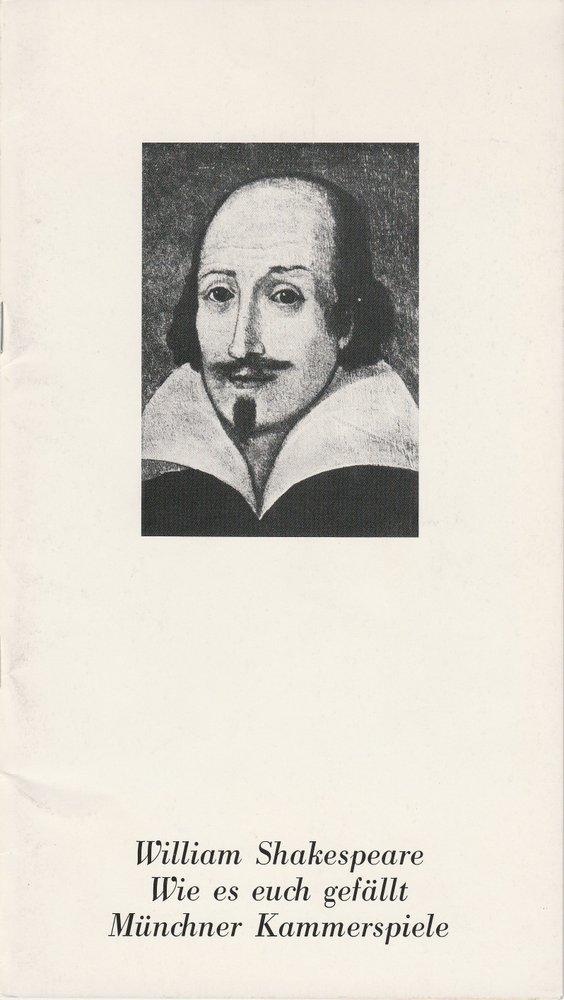 Programmheft William Shakespeare: WIE ES EUCH GEFÄLLT Münchner Kammerspiele 1981