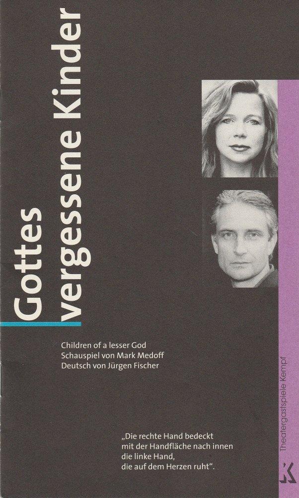 Programmheft GOTTES VERGESSENE KINDER Theatergastspiele Kempf 2000