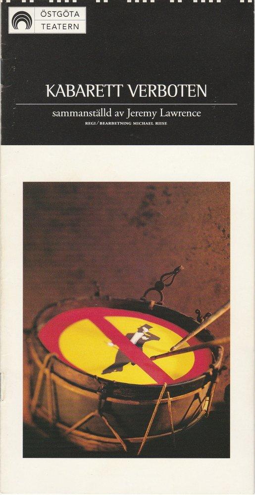 Programmheft KABARETT VERBOTEN Östgöta Teatern 1995