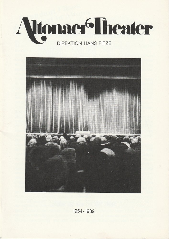 Altonaer Theater Direktion Hans Fitze 1954 - 1989