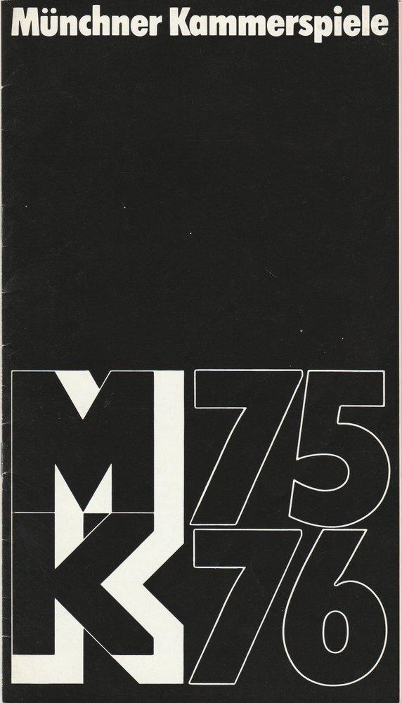 Programmheft Henrik Ibsen: GESPENSTER Münchner Kammerspiele 1975
