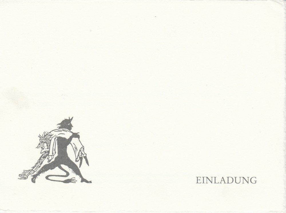 Einladungskarte für Herrn Claus Peymann & Begleitung zum Jedermann-Fest 2001