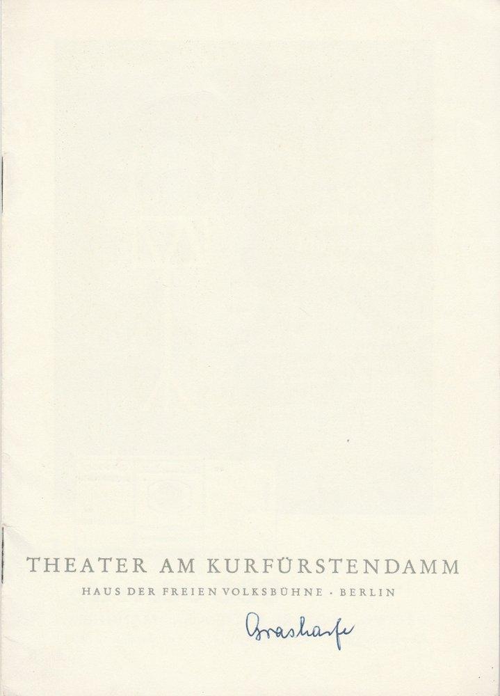 Programmheft Truman Capote: DIE GRAHARFE Theater am Kurfürstendamm 1962