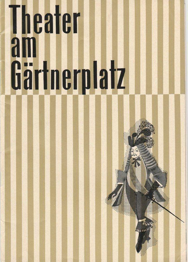 Programmheft Mark Lothar: SCHNEIDER WIBBEL Theater am Gärtnerplatz 1962