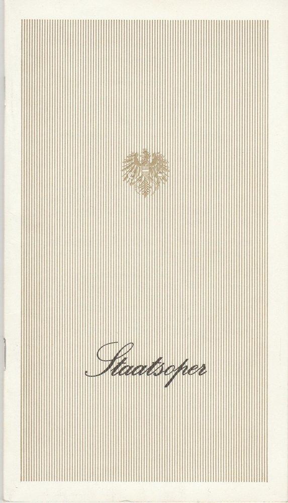 Programmheft Gaetano Donizetti: L'elisir d'amore Staatsoper Wien 1980