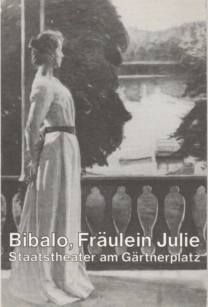 Programmheft FRÄULEIN JULIE von Antonio Bibalo Theater im Marstall 1987