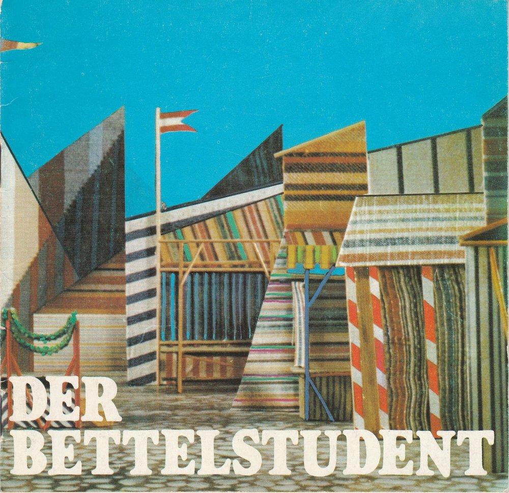 Programmheft Karl Millöcker: DER BETTELSTUDENT Komische Oper Berlin 1980