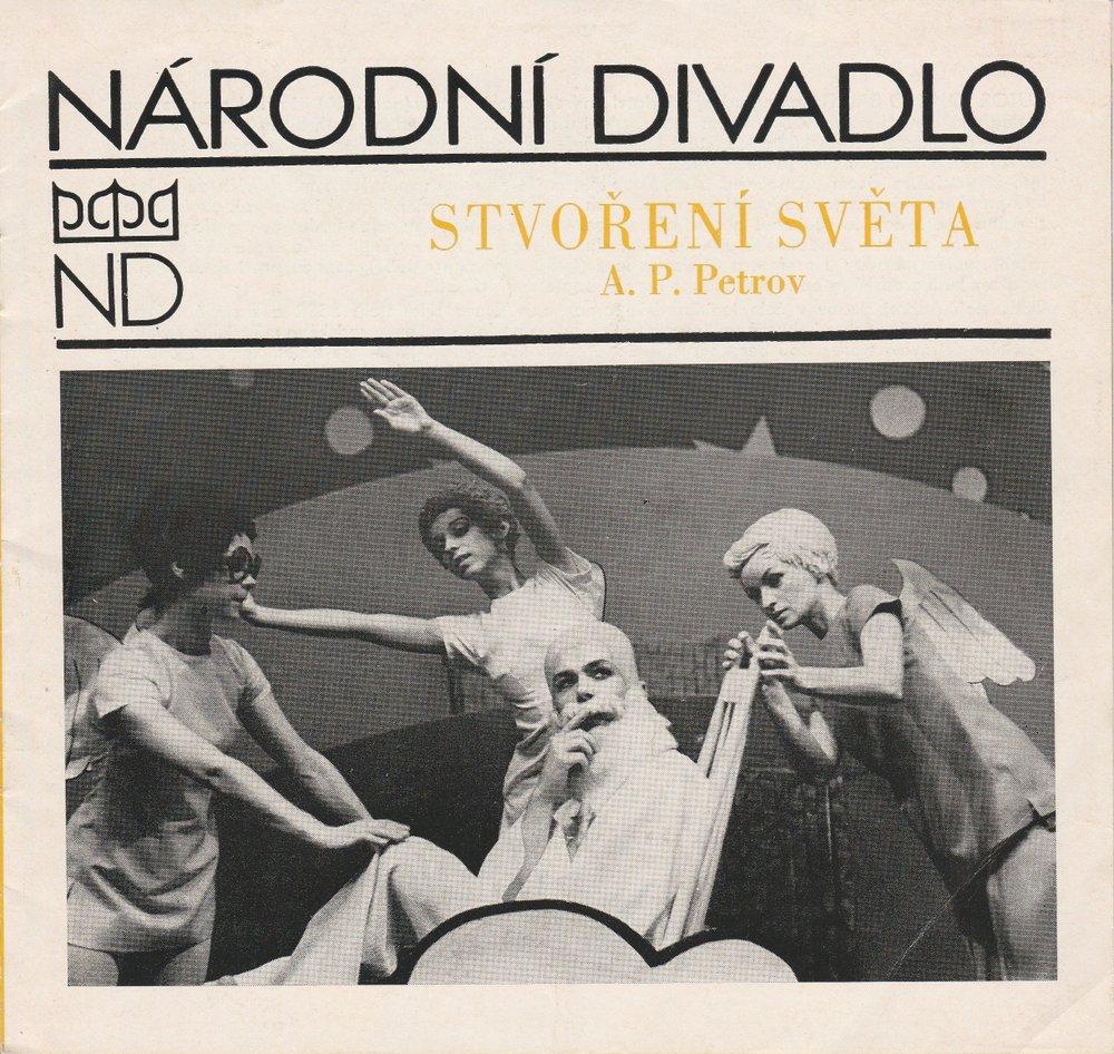 Programmheft Andrej Petrov: STVORENI SVETA. Balet. Narodni Divadlo Praha 1980