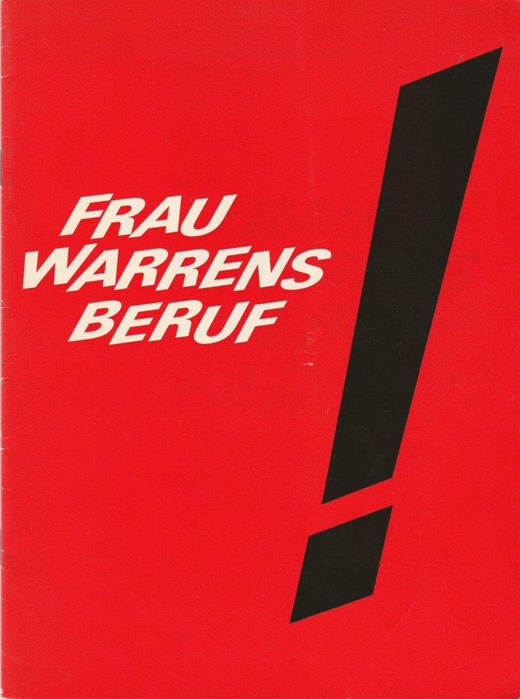 Programmheft Shaw FRAU WARRENS BERUF Die Schauspieltruppe Zürich 1972