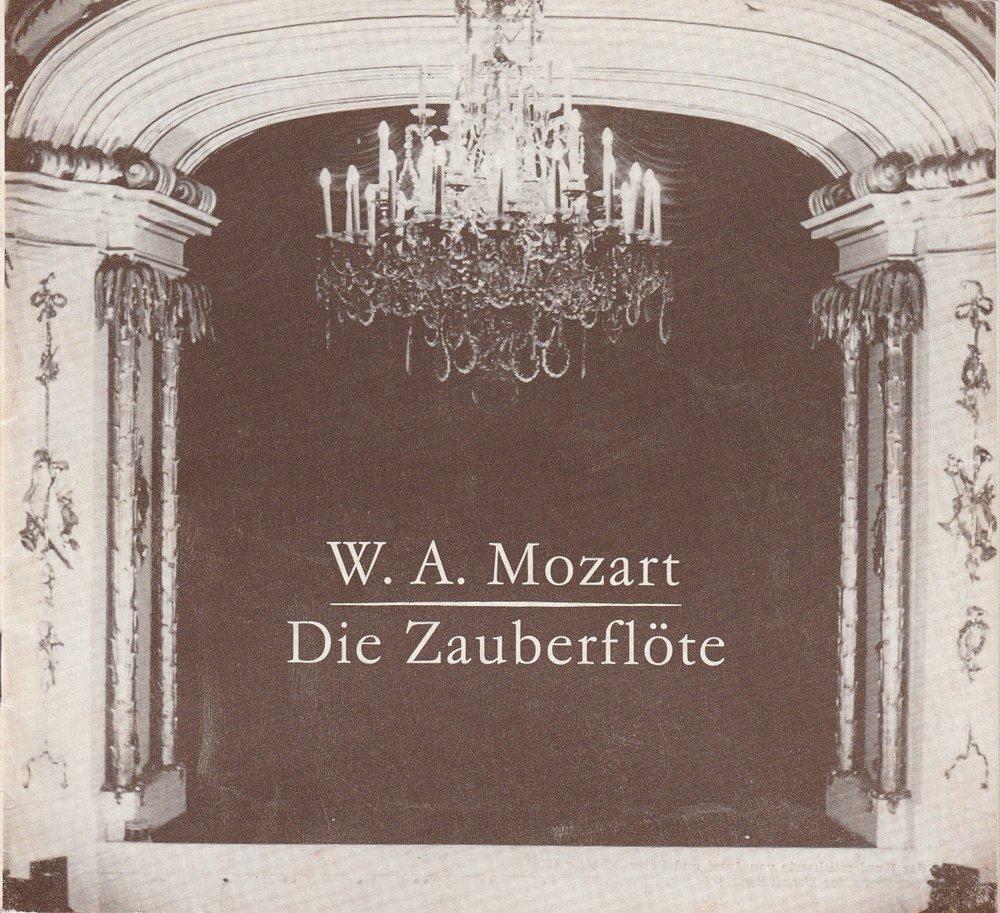 Programmheft Mozart: DIE ZAUBERFLÖTE Hans-Otto-Theater Potsdam 1979